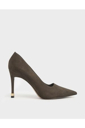 CHARLES & KEITH Women Pumps - Textured Stiletto Pumps