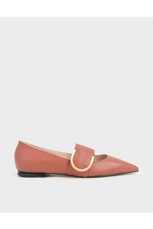 CHARLES & KEITH Flat Shoes - Leather Mary Jane Flats