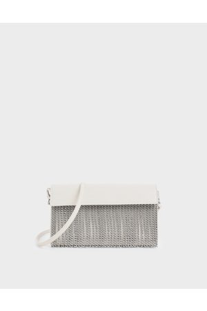 CHARLES & KEITH Women Clutches - Chain Fringe Clutch