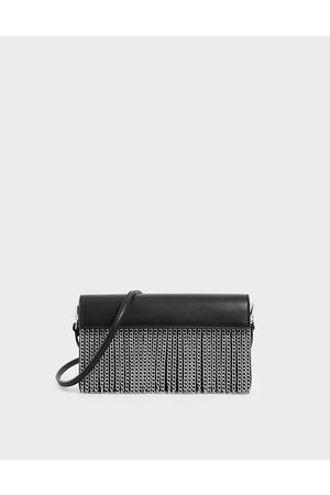 CHARLES & KEITH Chain Fringe Clutch