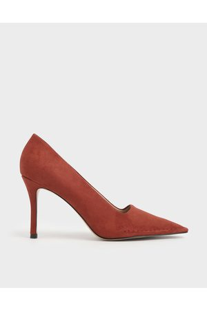 CHARLES & KEITH Stitch Trim Textured Stiletto Pumps