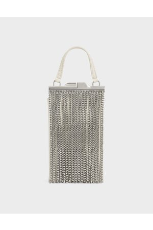 CHARLES & KEITH Chain Fringe Elongated Clutch