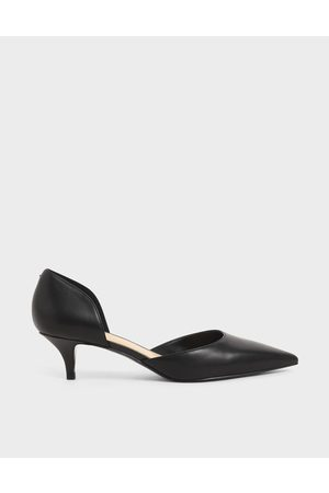 CHARLES & KEITH D'Orsay Kitten Heel Pumps