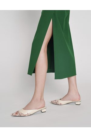 CHARLES & KEITH Embroidered Floral Mules
