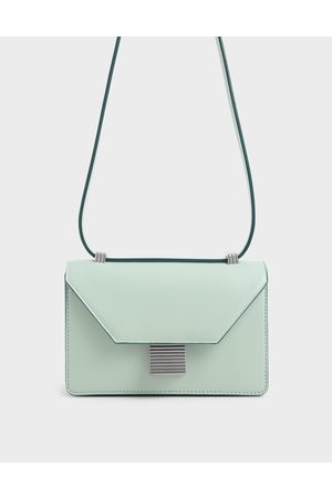 CHARLES & KEITH Metallic Push Lock Crossbody Bag