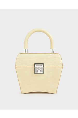 CHARLES & KEITH Croc-Effect Sculptural Bag