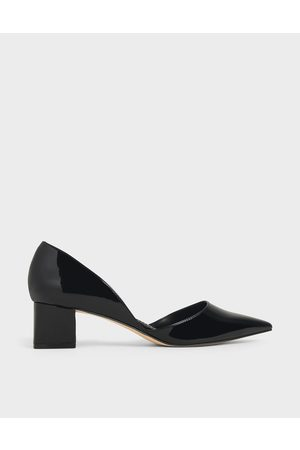 CHARLES & KEITH Patent D'Orsay Block Heel Pumps