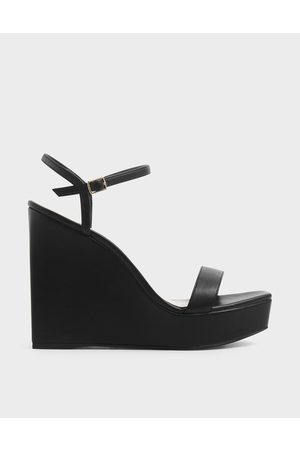 CHARLES & KEITH Women Wedges - Square Toe Platform Wedges