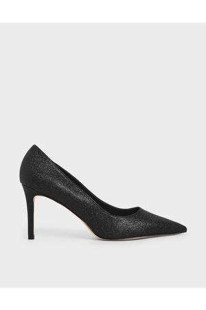 CHARLES & KEITH Glitter Stiletto Heel Pumps