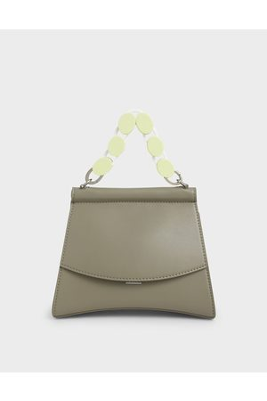 CHARLES & KEITH Acrylic Handle Sculptural Bag