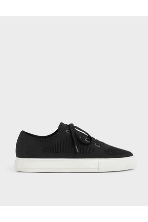 CHARLES & KEITH Knitted Lace-Up Sneakers