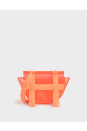 CHARLES & KEITH Small Caged See-Through Effect Crossbody Bag
