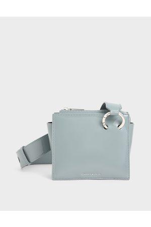 CHARLES & KEITH Women Shoulder Bags - Patent Square Crossbody Bag