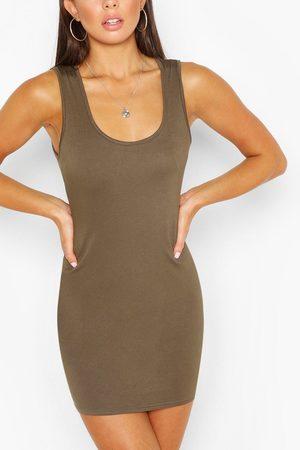 Boohoo Womens Scoop Neck Sleeveless Bodycon Dress - - 6