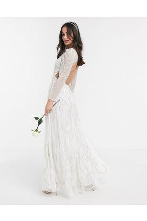 ASOS Women Party Dresses - Charlotte nouveau embellished maxi wedding dress