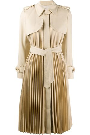Sandro Vino pleated trench coat - Neutrals