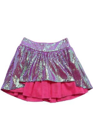 Charabia Sequin Embroidery & Tulle Skirt