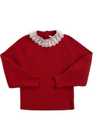 Chloé Girls Sweaters - Knit Cotton & Wool Sweater