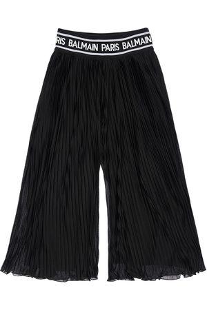 Balmain Pleated Georgette Pants