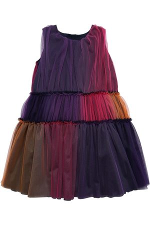 Charabia Girls Dresses - Degradé Stretch Tulle Party Dress