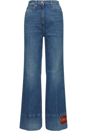 Gucci Women Flares - Cotton Flared Jeans
