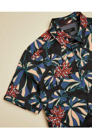 Ted Baker Men Shirts - Bold Leaf Print Cotton Shirt