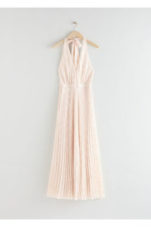 & OTHER STORIES Pleated Halterneck Maxi Dress