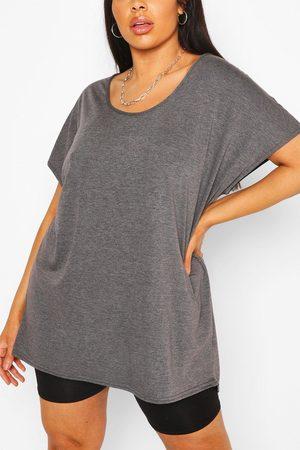Boohoo Womens Plus Oversized T-Shirt - - 24