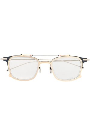 Thom Browne TB817 Iron Clubmaster Sunglasses