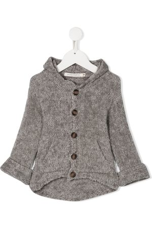 MESSAGE IN THE BOTTLE Hooded button cardigan - Grey