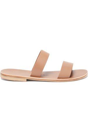 Álvaro Alex Double-strap Leather Slides - Mens - Tan