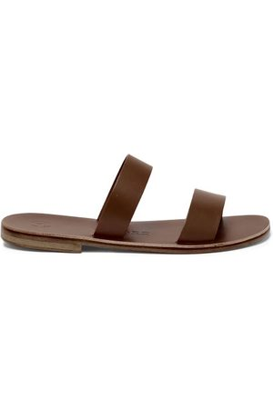 Álvaro Alex Double-strap Leather Slides - Mens