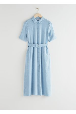 & OTHER STORIES Belted Maxi Shirt Dress