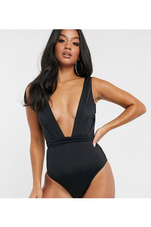 ASOS ASOS DESIGN recycled petite glam belted swimsuit in