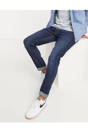 Lee Jeans Luke slim tapered jeans in dark wash-Navy
