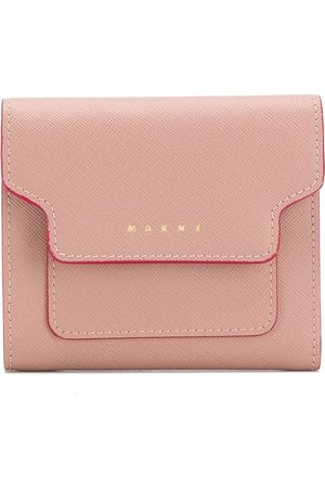 Marni Women Wallets - Contrast-trimmed leather wallet