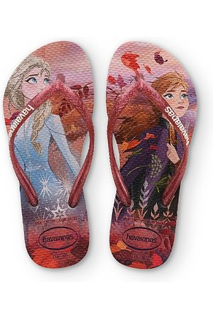 Havaianas Girls' Frozen Glitter Slim Flip-Flops - Walker, Toddler, Little Kid