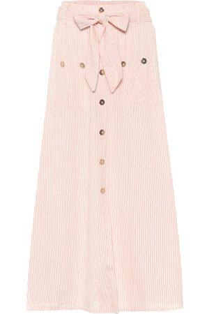 Melissa Odabash Alisa striped cotton maxi skirt