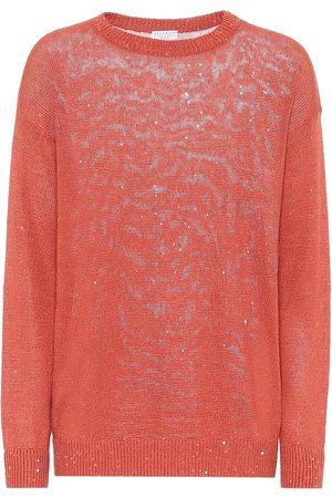 Brunello Cucinelli Exclusive to Mytheresa – Sequined linen and silk sweater