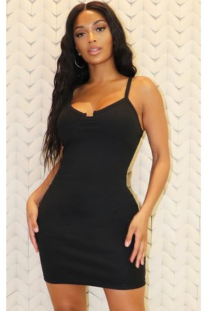 PRETTYLITTLETHING Shape Thick Rib Cup Detail Bodycon Dress