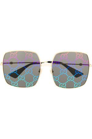 Gucci GG print square frame sunglasses