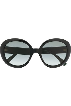 Gucci Web detail round-frame sunglasses