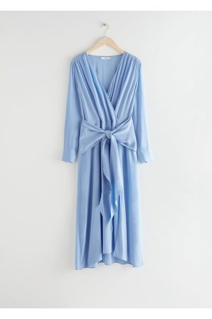 & OTHER STORIES Scarf Tie Flowy Midi Dress