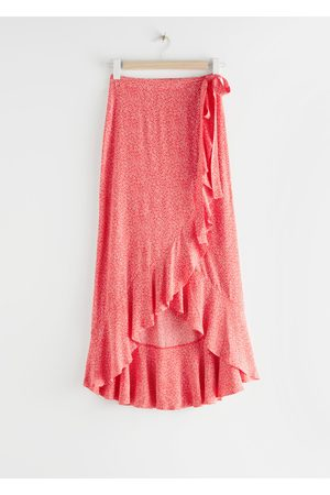 & OTHER STORIES Ruffle Wrap Maxi Skirt