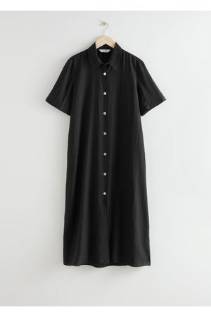 & OTHER STORIES Buttoned Maxi Shirt Dress