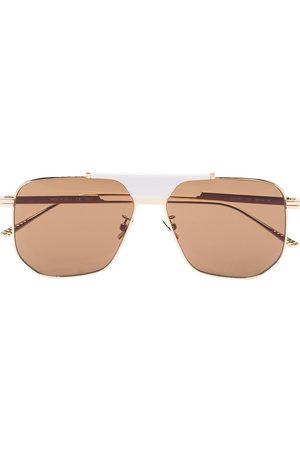 Bottega Veneta Geometric aviator-frame sunglasses
