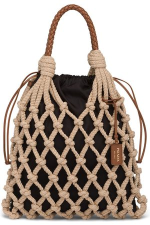 Prada Women Tote Bags - Knotted cord tote bag - Neutrals