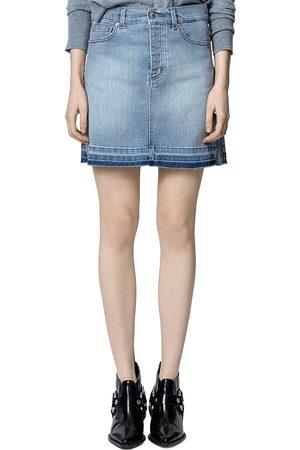 Zadig & Voltaire Juicy Silver Trim Denim Skirt
