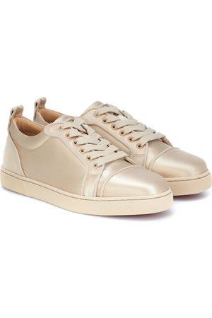 Christian Louboutin Louis Junior silk-satin sneakers