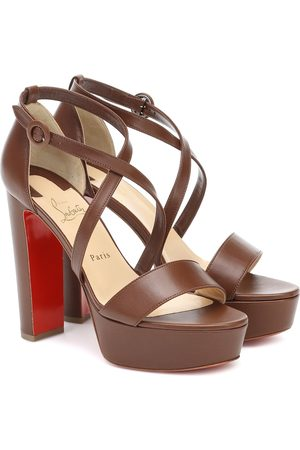 Christian Louboutin Loubi Bee Alta 130 leather platform sandals